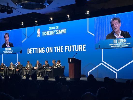 ▲NBA科技峰会:球员和硅谷科技界大佬齐聚一堂