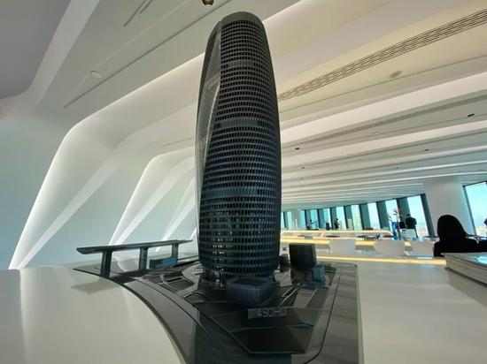 ▲丽泽SOHO楼宇模型