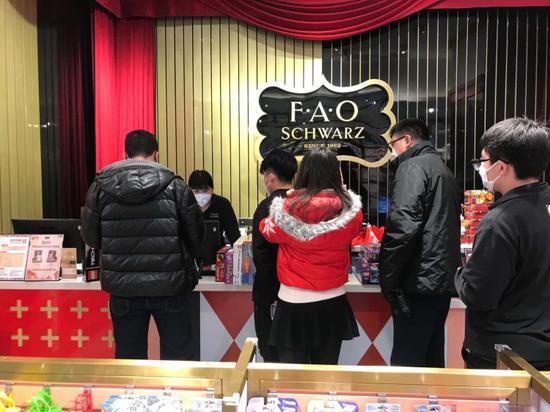 疫期的FAOSchwarz门店。 受访者供图