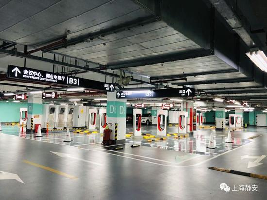全球最大特斯拉超级充电站上线静安 充电费2.45元/千瓦时