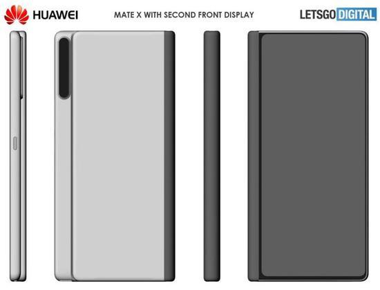 华为Mate X 2专利图公布 内外双屏+纵向摄像