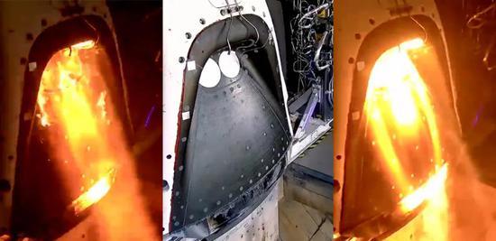 龙飞船的SuperDraco逃逸发动机正在测试