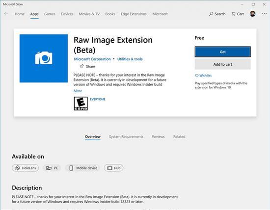 Win1019H1新版18323推送 优化RAW格式图片和亮色主题
