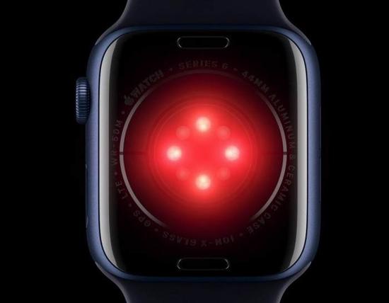 Apple Watch Series 6背部的红外装置