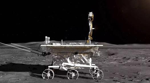 图片表明:嫦娥四号月球车外形设计构型 图片来源:新华社