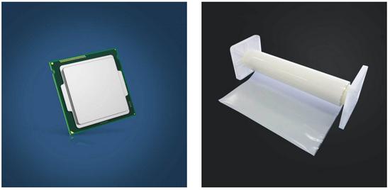 圖:芯片與ABF材料