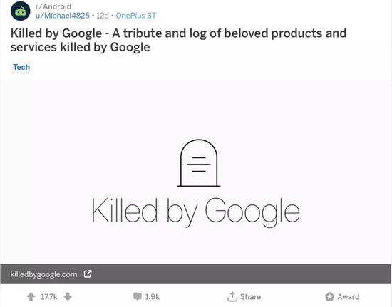 Reddit Killed by Google 帖子 / Reddit