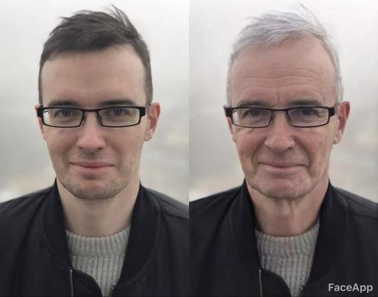变老滤镜软件Faceapp,看看你40年后的模样
