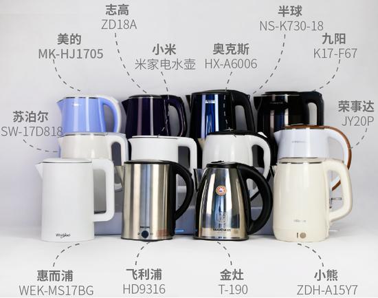 12款電熱水壺對比測評 讓你知道電熱水壺應該怎么選