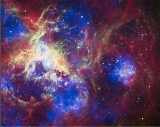 图片来源:X-ray: NASA/CXC/PSU/L.Townsley et al。;Optical: NASA/STScI;Infrared: NASA/JPL/PSU/L.Townsley et al