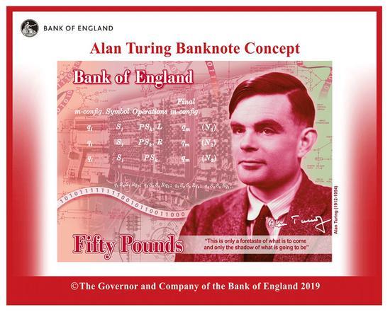 图灵成为50英镑新钞人物