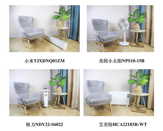 家居场景下的摆放效果示意图,四款产品颜值在线