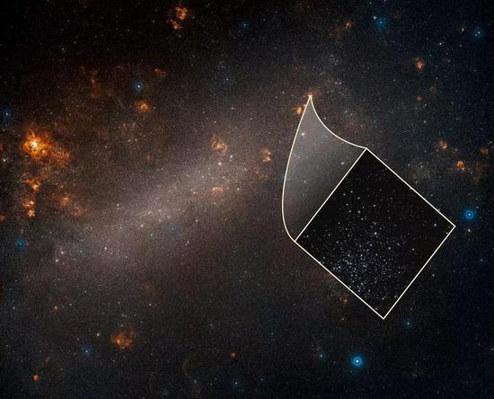 哈勃太空望远镜下的大麦哲伦星云(图片来源:HUBBLBSITE)