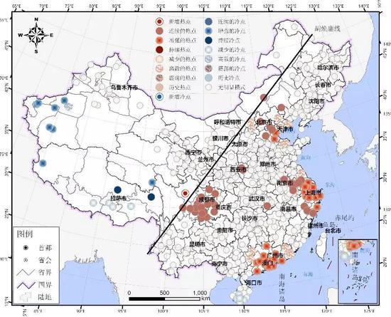 ▲图11人口迁出时空演化模式