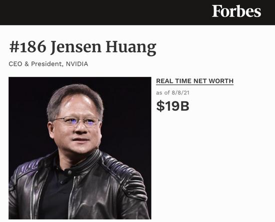 黄仁勋身价暴涨跻身千亿富翁!英伟达5080亿美元市值创纪录