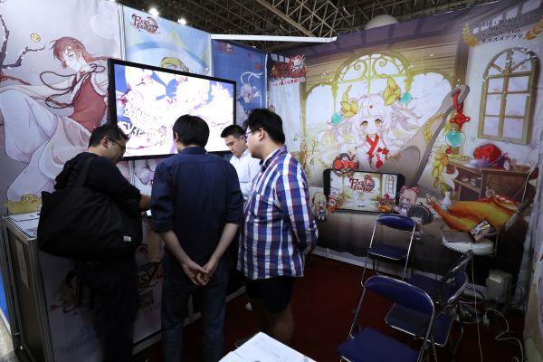 资料图片:中国游戏亮相2018年日本东京电玩展。(新华社)