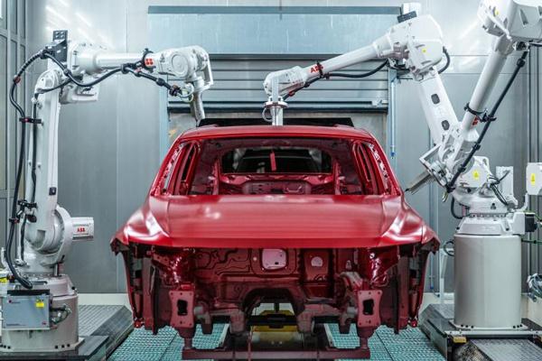 上汽大多MEB工厂的检测机器人
