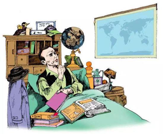 魏格纳在病房的世界地图上发现,非洲的西海岸和南美洲的东海岸形状十分吻合,从而推测太古时代地球上的大陆是连载一起的巨大板块,后因大陆不断漂移才形成如今的大陆,提出了大陆漂移的假说。(图片来源:必应图库)
