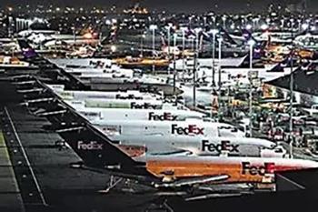 繁忙的孟菲斯机场
