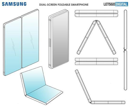 三星折叠屏手机专利图流出:360度旋转很酷