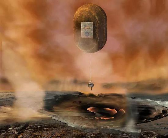 金星表面有着极端的气候环境。(艺术构想图) NASA