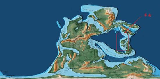 2.7亿年前左右的华南,已经有一部分为陆地了,但是还有一大部分为浅海图/www.gplates.org