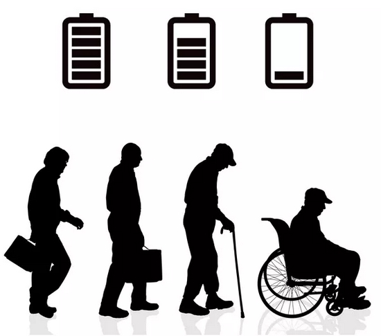 电池材料老化、性能衰变的过程和人的衰老有相似之处 | 素材来自图虫创意