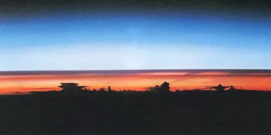 皮纳图博火山喷发后的大气层(航天飞机在1991年8月8日南美上空拍摄)