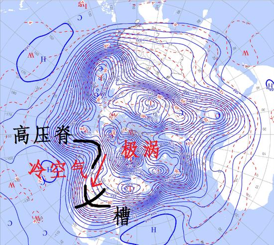 图为2月17日20时(北京时间)500hPa环流形势。制图/李慧