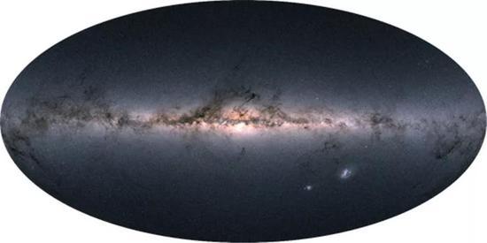 盖亚第二次数据发布表现的银河系星图。来源:ESA [20]