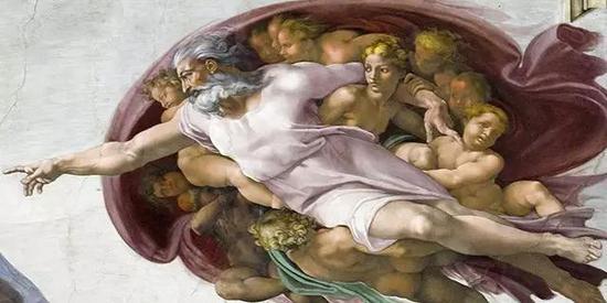 (设计台词)上帝:把人类那帮小兔崽子都盯紧了,防火防盗防人类!(图片来源:wiki)