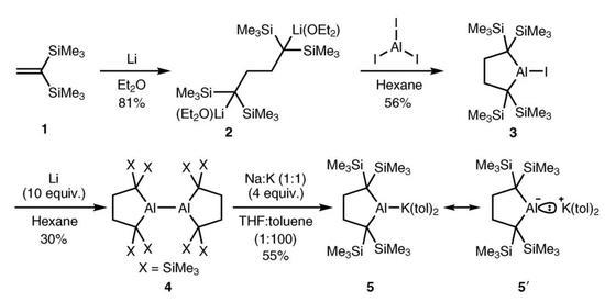 ▲烷基铝酸钾化相符物5的相符成(图片来源:参考原料[4])