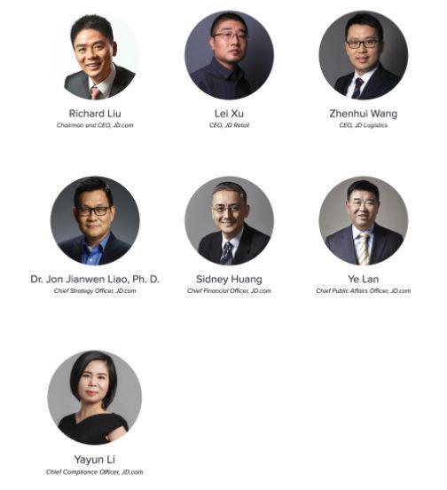 ▲除去蓝烨,京东页面上还有6位高管