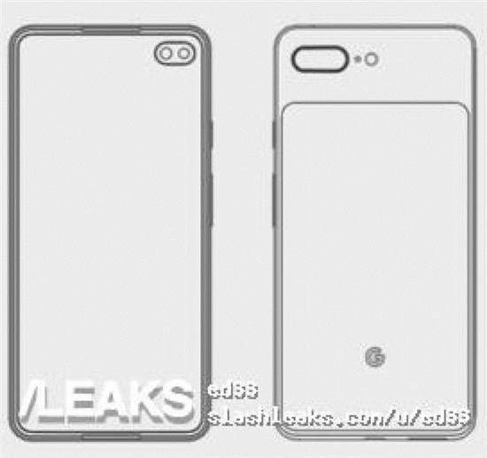 安卓全新标杆机谷歌Pixel 4 XL手机设计图疑似曝光