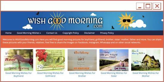 △ 聪明的人就开始利用印度爱问早的特点进行创业,建了一个专门提供图的早安祝福图片集合网