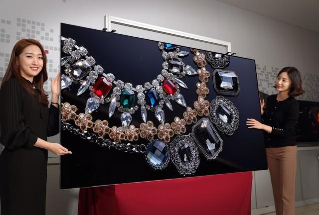 目前LGDisplay所采用的是蒸镀工艺来量产大尺寸OLED面板