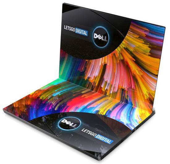 戴爾用于折疊屏筆記本電腦的新設計專利曝光,帶有兩面顯示屏