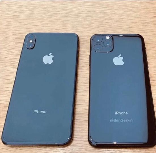 iPhone XI(右)和iPhone X(左)外观对比图(图片来源见水印)