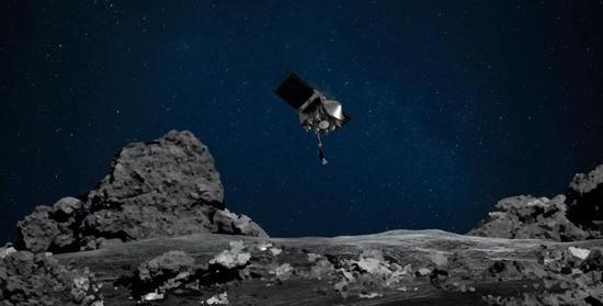 在贝努幼走星上采样的冥王号。图源:NASA官网