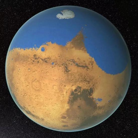 曾经的火星假想图。来源:NASA