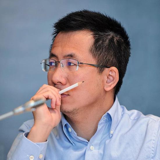 今日头条CEO张一鸣。图/视觉中国