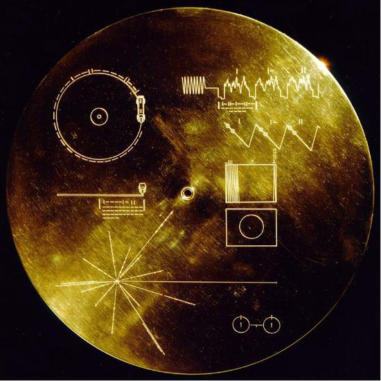 旅行者号的唱片说明书。(图片来源:https://en.wikipedia.org/wiki/Voyager_Golden_Record)