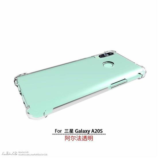 三星Galaxy A20s手机壳渲染图曝光 后置竖排三摄将有三种配色