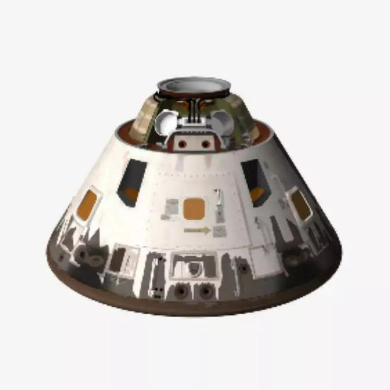 阿波罗登月飞船的返回舱(图片来源:http://www.pinsdaddy.com/apollo-command-module-model_3Zsivj3AOYNXNR0BgInRlmH9JmWQBRPkGA8FmDvWHbQ/)