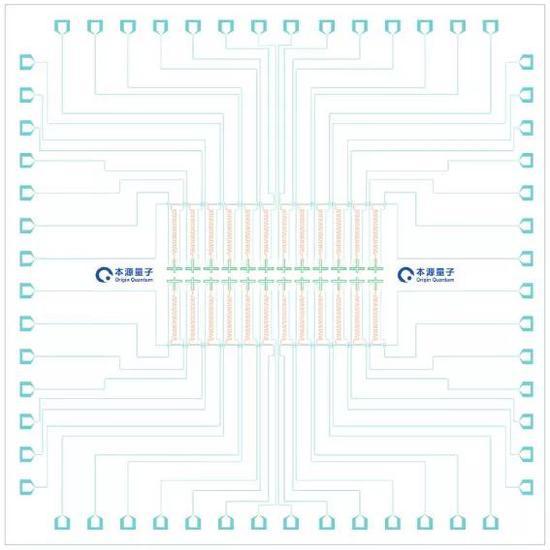 24比特超导量子芯片 夸父KF C6-130示意图