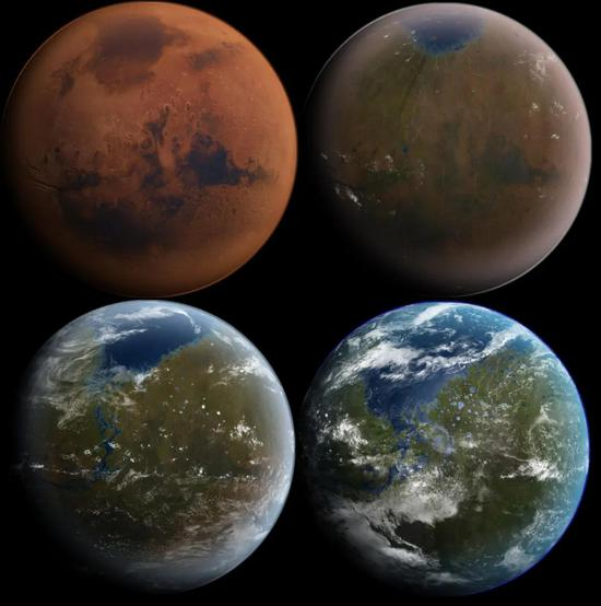 人们设想将红色火星改造成蓝色地球,使之成为未来人类的第二个家园。  Daein Ballard