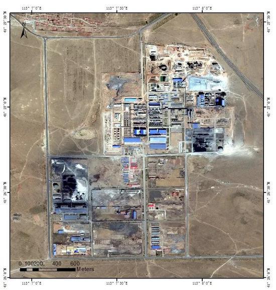 (B)内蒙古的煤化工厂