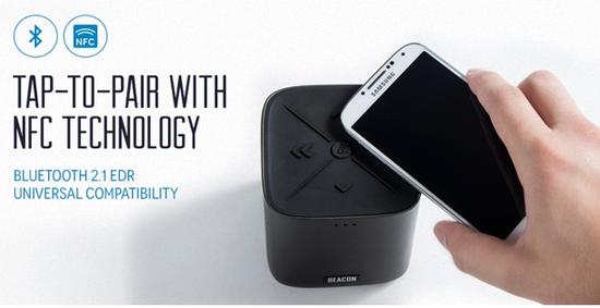 通过NFC可以与耳机、蓝牙音箱等设备连接