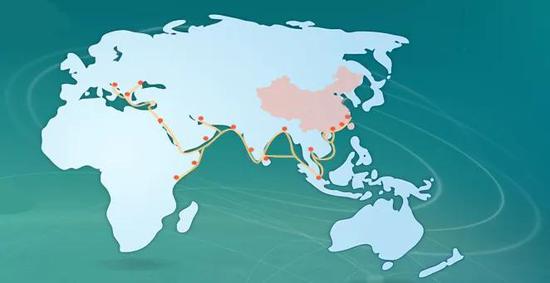 海上丝绸之路航线概览图