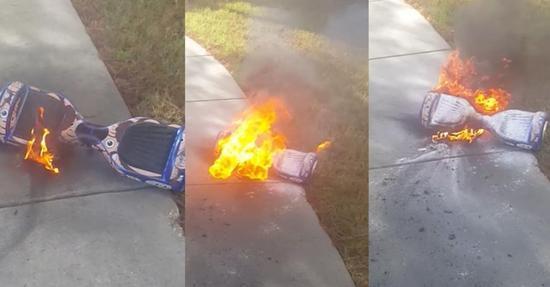 图:劣质山寨平衡车起火、爆炸屡见不鲜